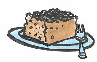 billede af en kage på en tallerken