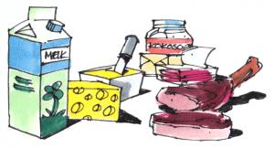 Kilder til mættet fedt er mælk, ost, smør og kød